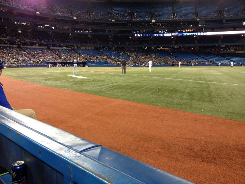 Seating view for Rogers Centre Section 113 Row 1 Seat 6