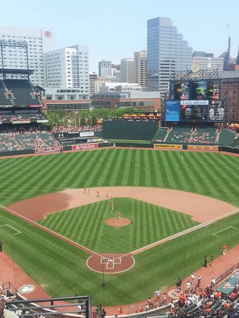 Seating view for Oriole Park at Camden Yards Section 334 Row 15 Seat 16