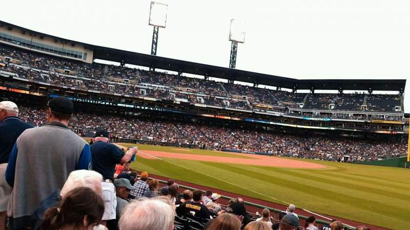 Seating view for PNC Park Section 1 Row M Seat 9
