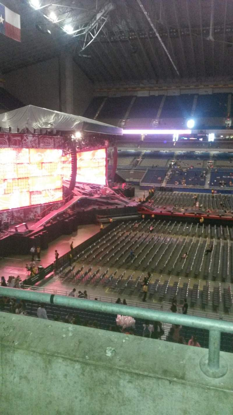 Seating view for Alamodome Section 214 Row 2 Seat 20