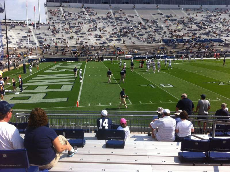Beaver Stadium, section: WJ, row: Q, seat: 21