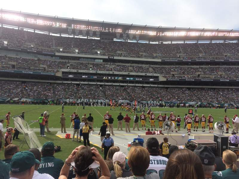 Seating view for Lincoln Financial Field Section 119 Row 5 Seat 22