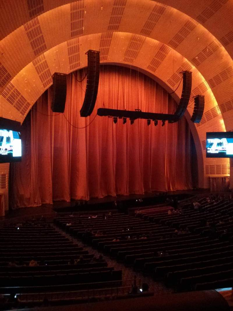 Seating view for Radio City Music Hall Section 1st mezzanine 7 Row BB Seat 702