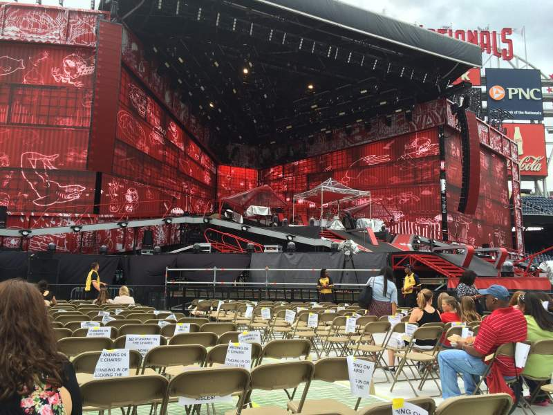 Nationals Park, section 6, row S, seat 5 - One Direction ...