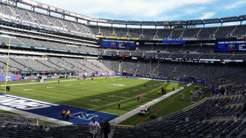 Seating view for MetLife Stadium Section 118