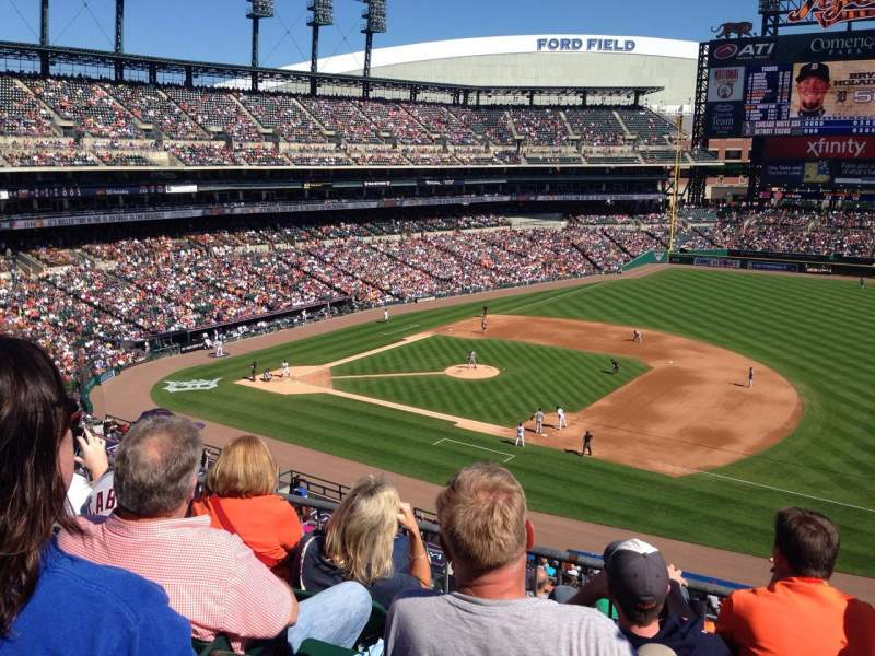 Seating view for Comerica Park Section 218 Row 4 Seat 13