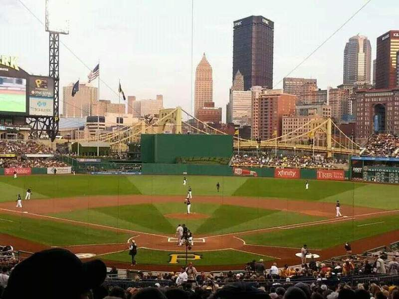 Seating view for PNC Park Section 116 Row cc Seat 7