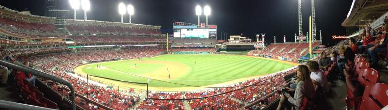 Seating view for Great American Ball Park Section 305 Row B Seat 13