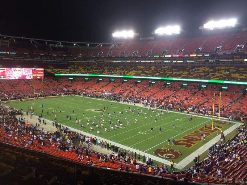Seating view for FedEx Field Section 337 Row 14 Seat 11