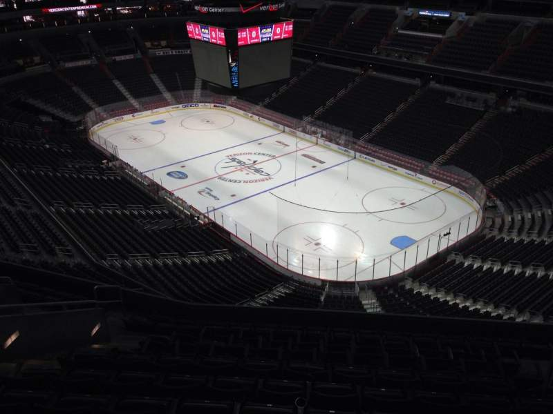 Seating view for Capital One Arena Section 405 Row M Seat 11
