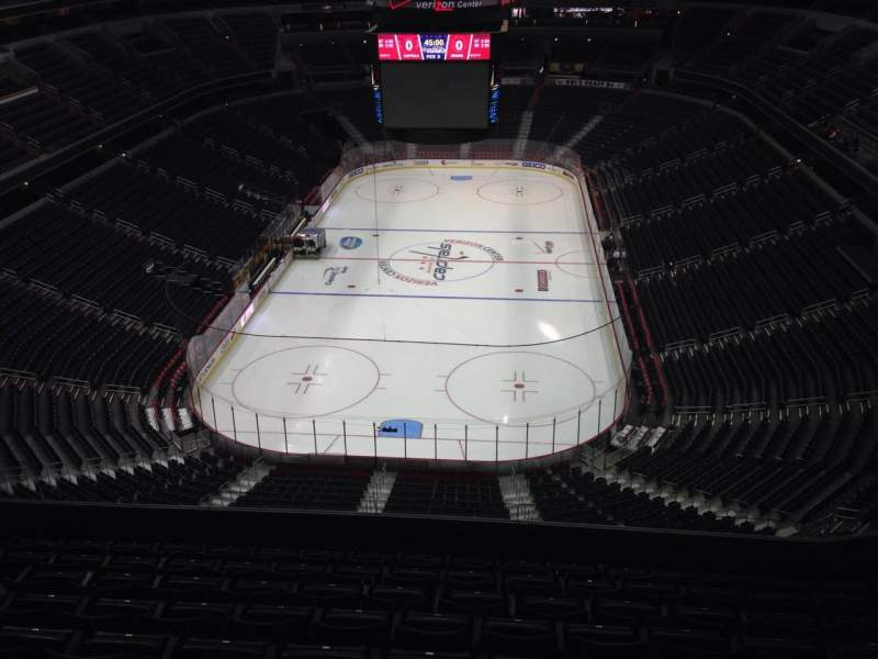 Seating view for Verizon Center Section 409 Row J Seat 11