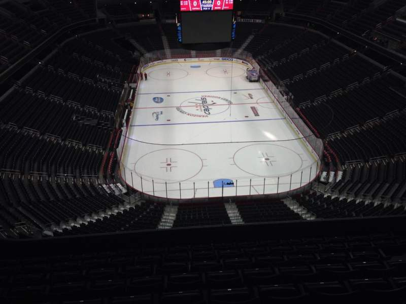 Seating view for Verizon Center Section 408 Row J Seat 11