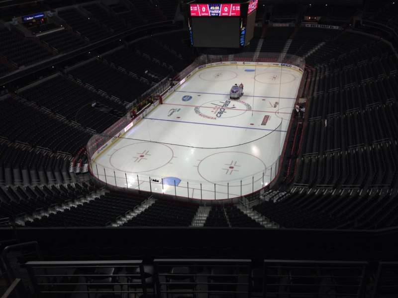 Seating view for Capital One Arena Section 410 Row J Seat 10