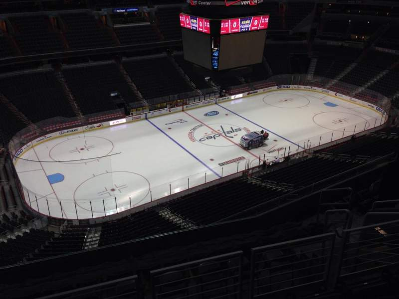Seating view for Capital One Arena Section 414 Row J Seat 10