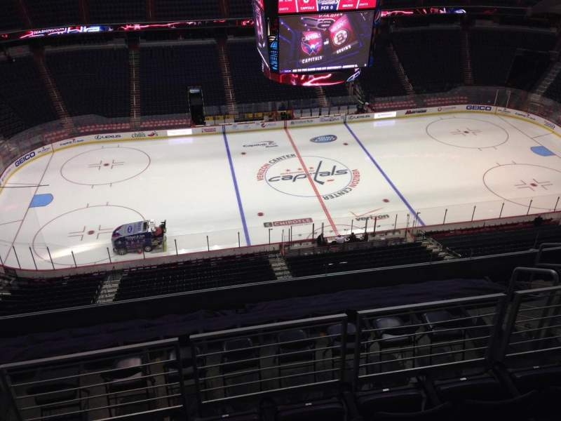Seating view for Verizon Center Section 416 Row J Seat 8
