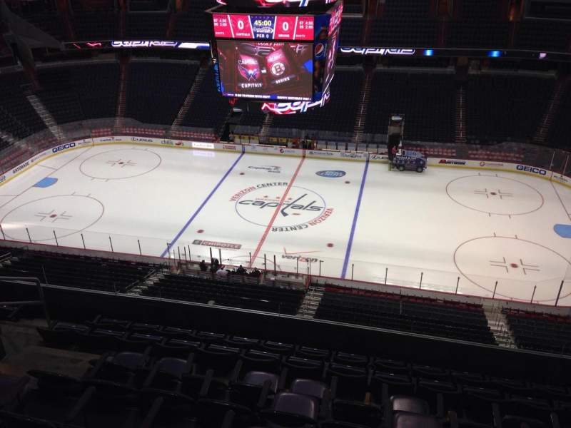 Seating view for Capital One Arena Section 418 Row H Seat 9
