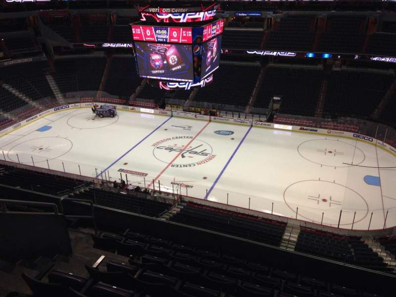 Seating view for Verizon Center Section 419 Row H Seat 8