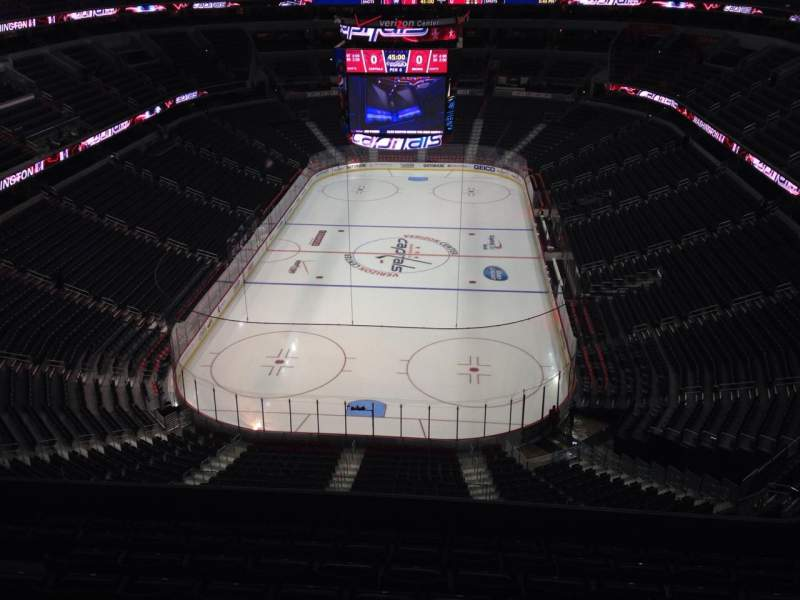 Seating view for Capital One Arena Section 426 Row J Seat 10