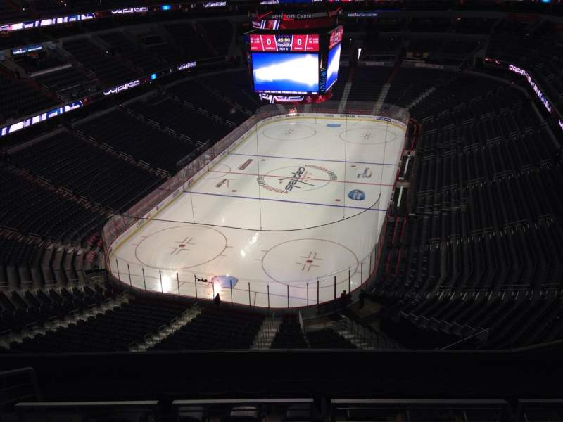Seating view for Verizon Center Section 427 Row J Seat 10