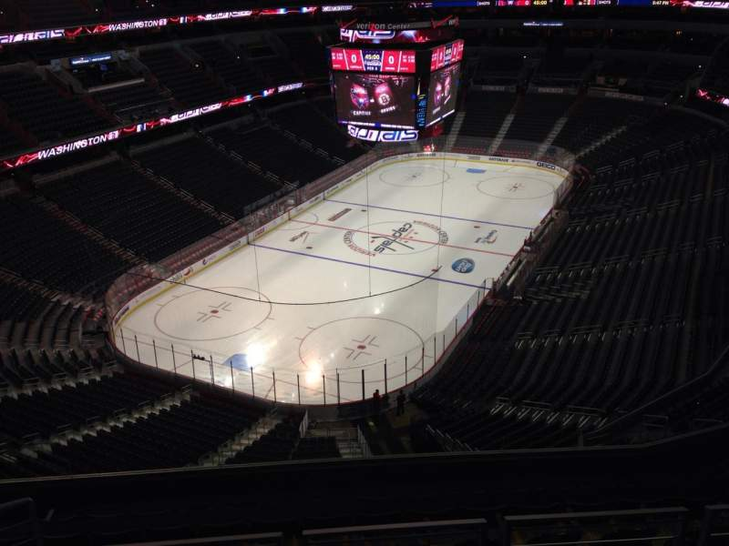 Seating view for Verizon Center Section 428 Row J Seat 9
