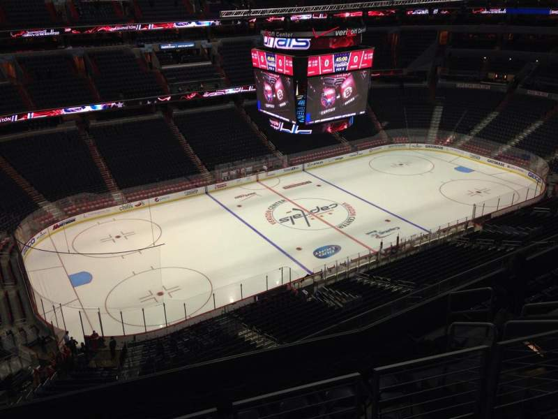 Seating view for Verizon Center Section 431 Row J Seat 10