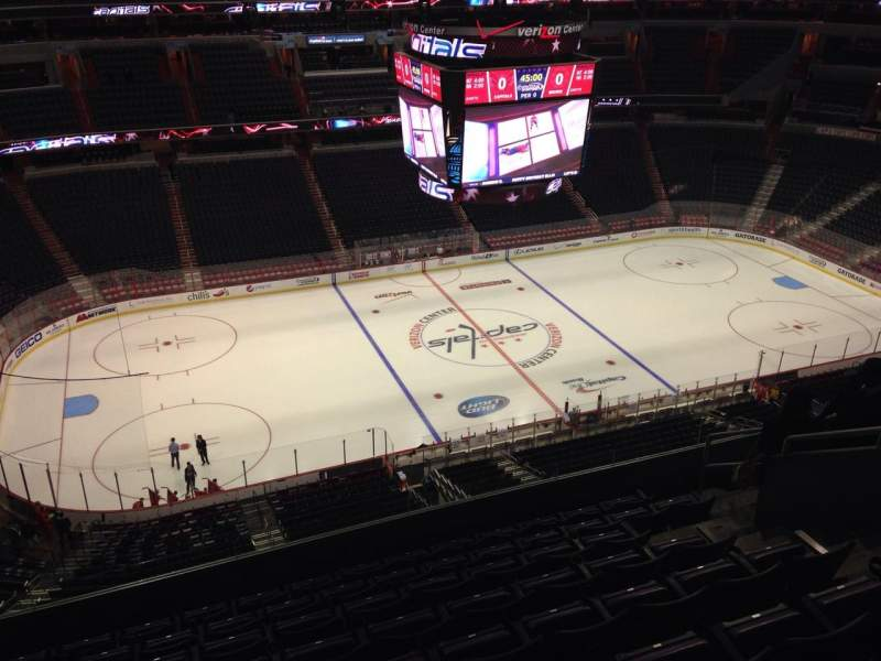 Seating view for Verizon Center Section 432 Row J Seat 9
