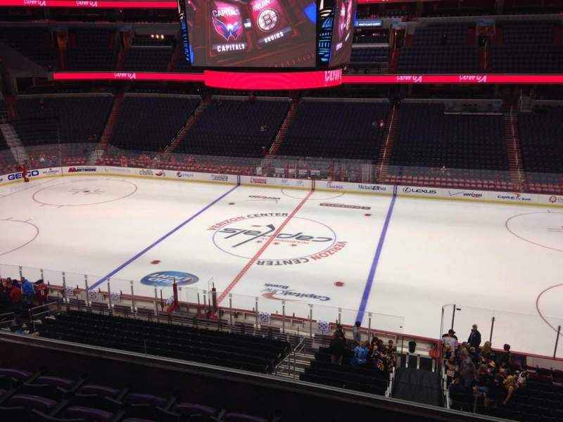 Seating view for Capital One Arena Section 201 Row F Seat 9