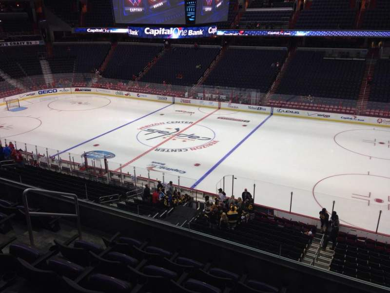 Seating view for Verizon Center Section 202 Row F Seat 8