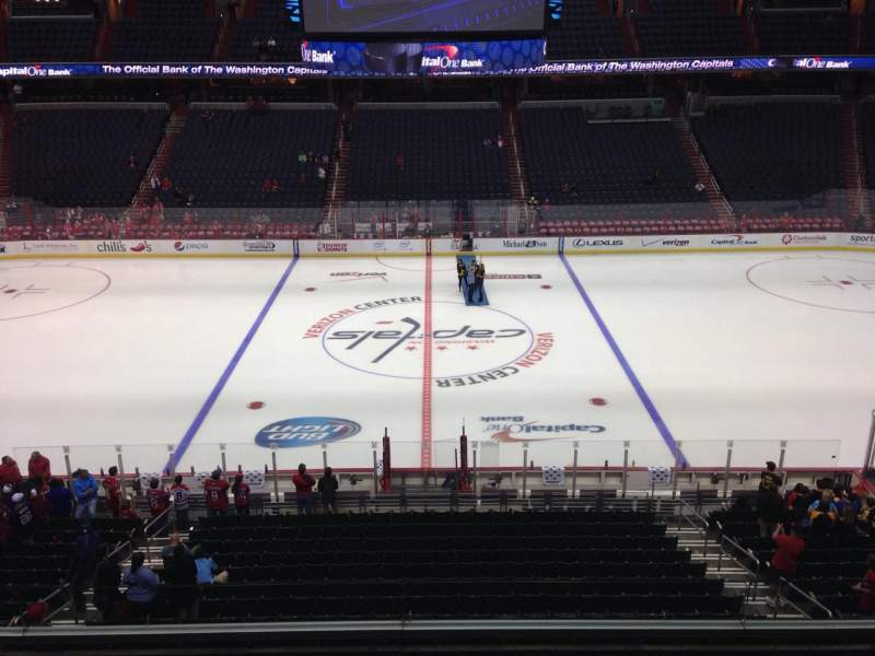 Seating view for Capital One Arena Section 200 Row D Seat 9