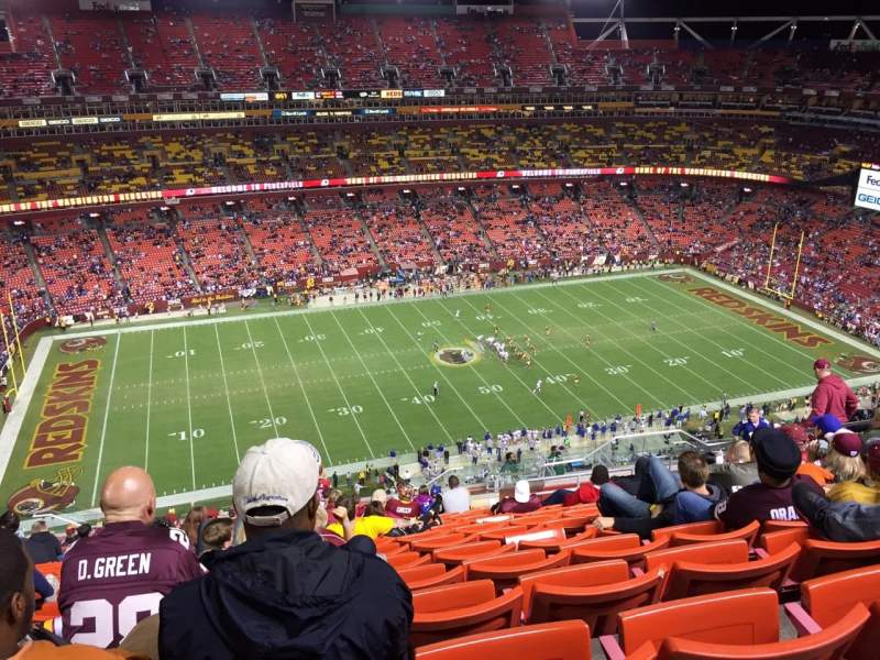 Seating view for FedEx Field Section 430 Row 20 Seat 12