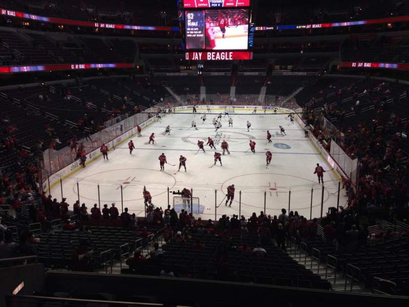 Seating view for Verizon Center Section 117 Row Y Seat 5