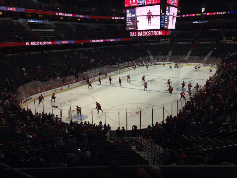 Seating view for Capital One Arena Section 118 Row Y Seat 17