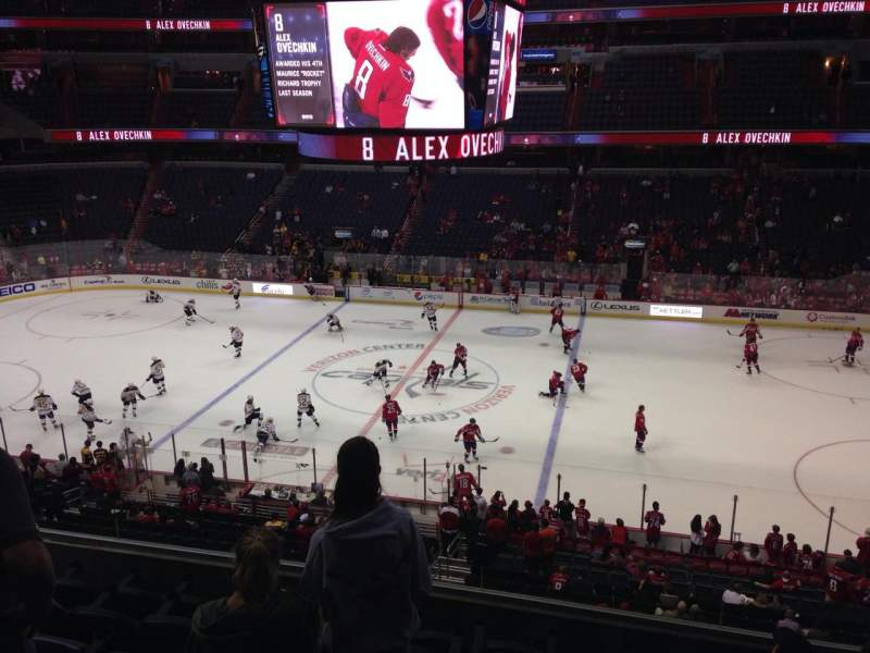 Seating view for Capital One Arena Section 216 Row G Seat 8