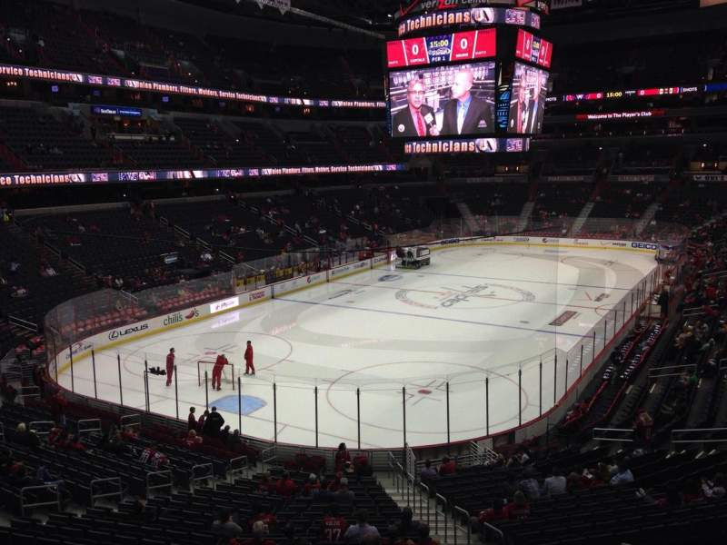 Seating view for Verizon Center Section 107 Row X Seat 17