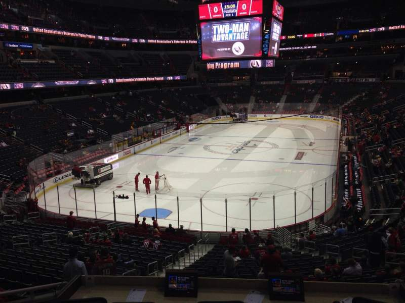 Seating view for Verizon Center Section 107 Row X Seat 4