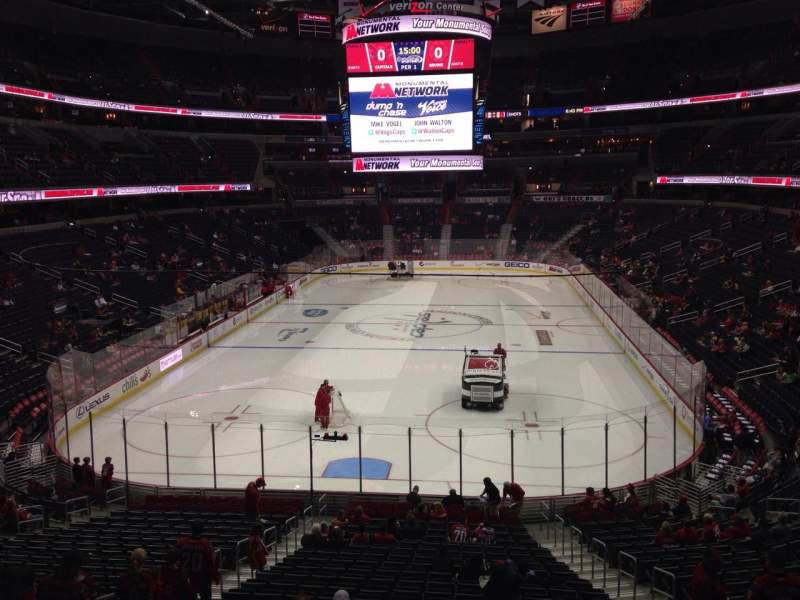 Seating view for Verizon Center Section 106 Row X Seat 10