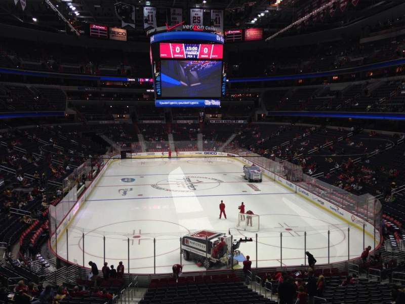 Seating view for Capital One Arena Section 105 Row X Seat 4