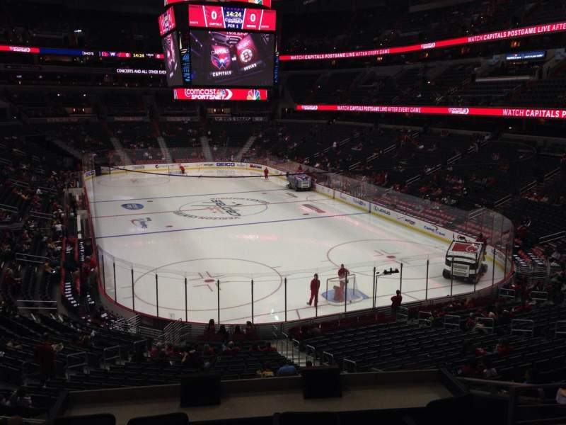 Seating view for Capital One Arena Section 104 Row Y Seat 18