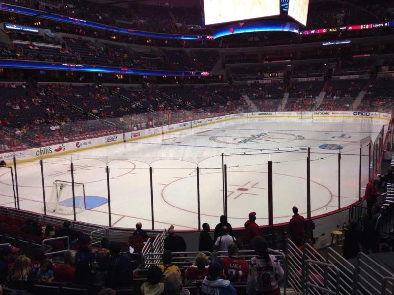 Seating view for Verizon Center Section 118 Row O Seat 13