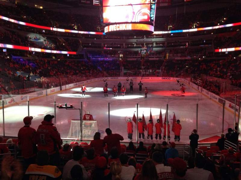 Seating view for Capital One Arena Section 118 Row O Seat 9