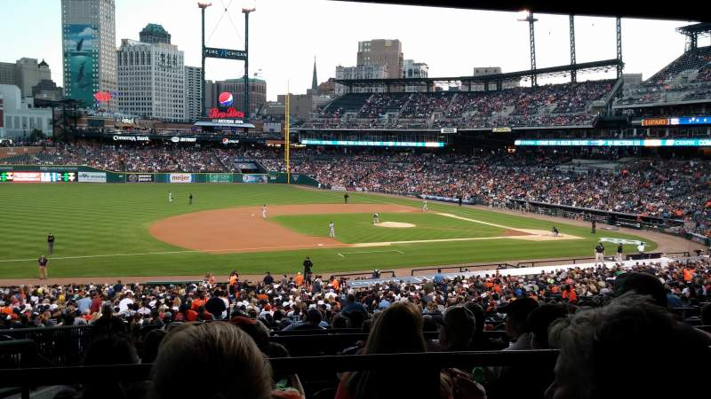 Seating view for Comerica Park Section 136A Row H Seat 7