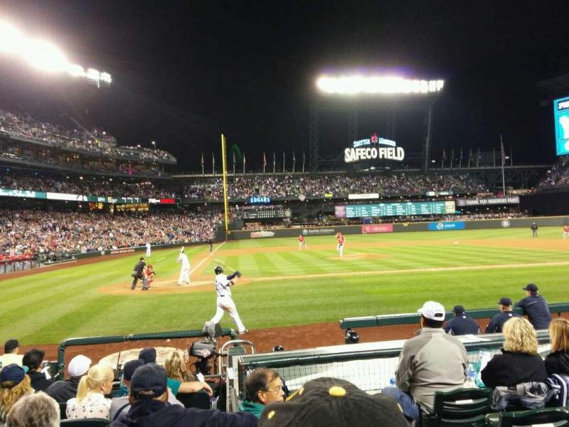 Seating view for Safeco Field Section 125 Row 10 Seat 1