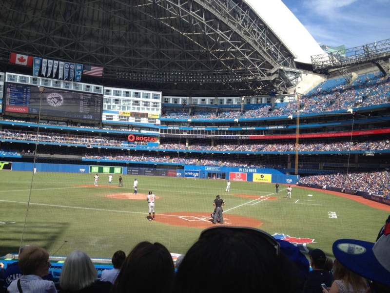 Seating view for Rogers Centre Section 123L Row 14 Seat 102