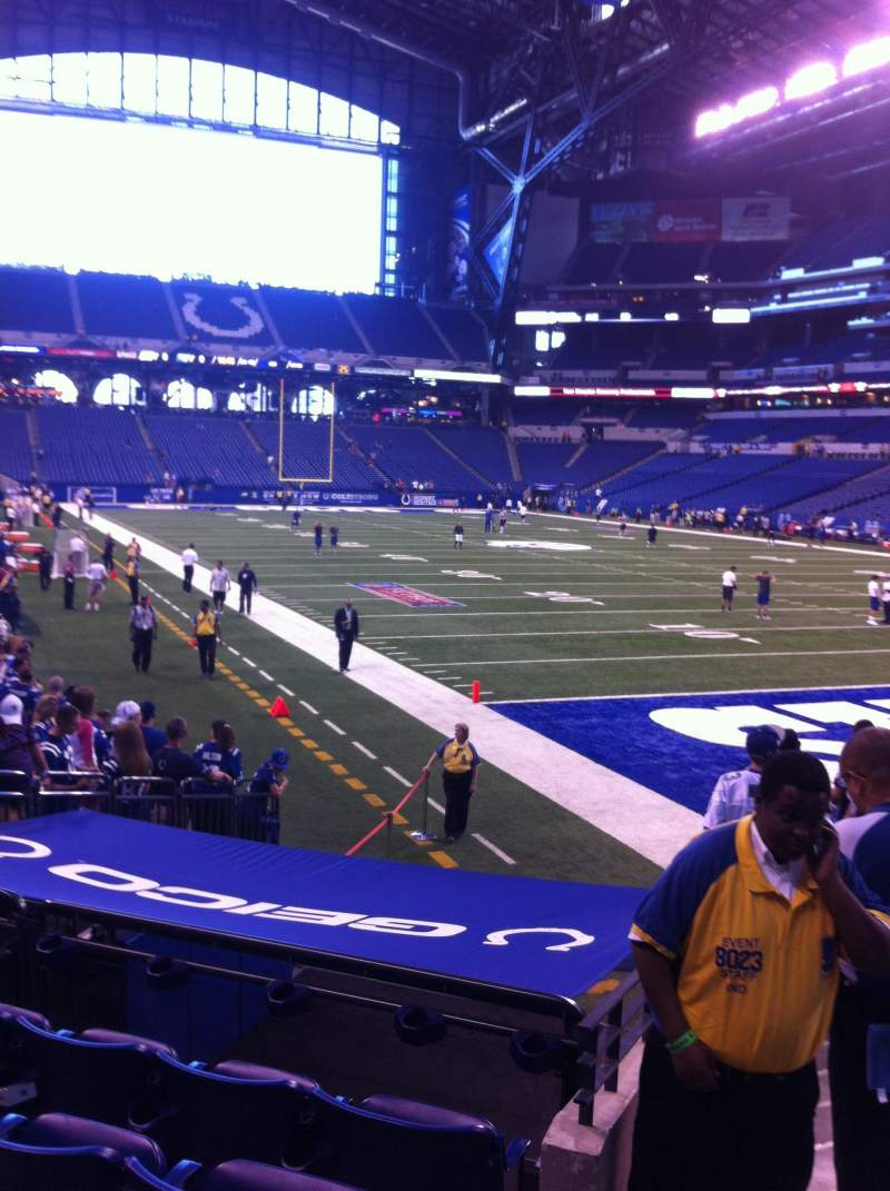 Seating view for Lucas Oil Stadium Section 132 Row 12 Seat 4