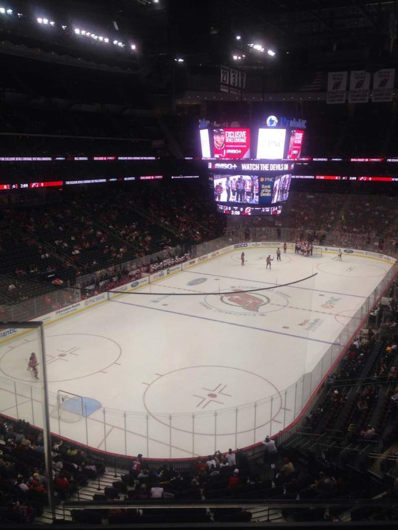 Seating view for Prudential Center Section 123 Row 2 Seat 13