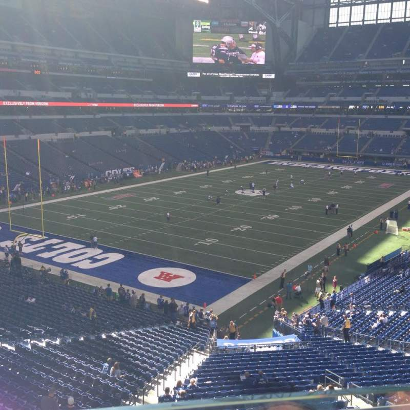 Seating view for Lucas Oil Stadium Section 349 Row 1 Seat 19