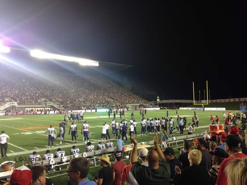 Seating view for TD Place Stadium Section V Row 7 Seat 3
