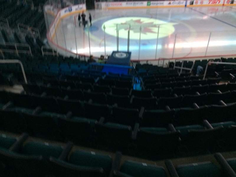 Seating view for MTS Centre Section 109 Row 16 Seat 8