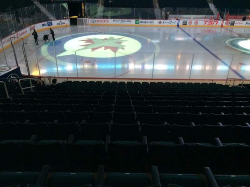 Seating view for MTS Centre Section 107 Row 16 Seat 13