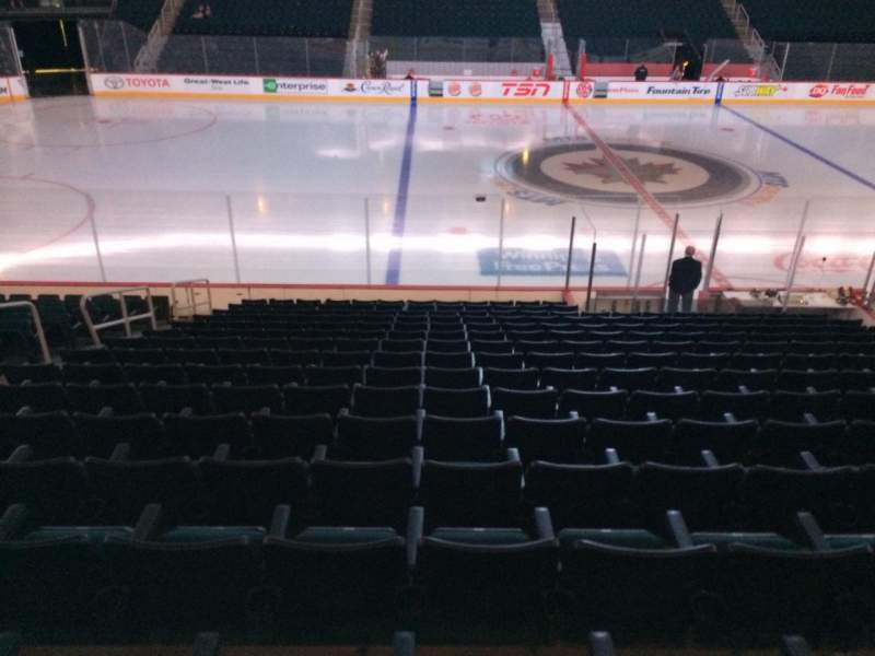 Seating view for Bell MTS Place Section 106 Row 16 Seat 14